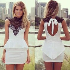 Ropa ,dress, clothes, lacs, black and white