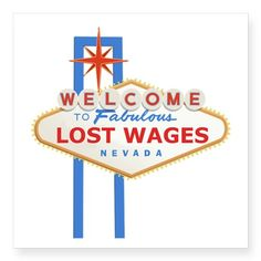 """Lost Wages"" Nevada Sticker"