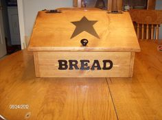 Wood bread box new handmade primitive americana black star