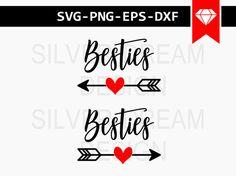 besties svg file best friend svg besties cut file by SilverDreamCo