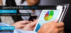 ZoomCharts is offering data visualization tools to support speakers at UXLx taking place June through 2015 at the FIL Meeting Centre (Centro de Reuniões da FIL), Rua do Bojador -. Data Visualization Software, Meeting Center, June 3rd, Multi Touch, Big Data, Design Development, Ux Design, Lisbon, Charts