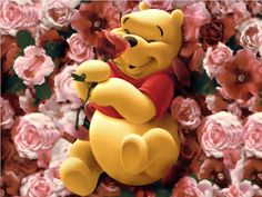 Day 1: You're Favorite Character  My favorite character is Winnie the Pooh! I just love him! He's an awesome friend, thoughtful, caring, thinks of his friends first, that rumbly in his tumbly second, and himself last. After all he's just a silly old bear!