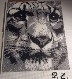 Tiger Hama mini Beads by Piazobel100