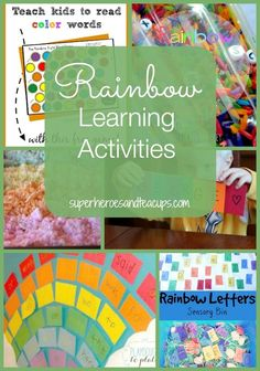 Rainbow learning activities for children.