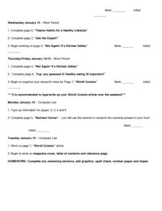 This is a final Summative assignment for a Grade 9/10 food and nutrition course. The students must create a magazine and include a variety of secti...