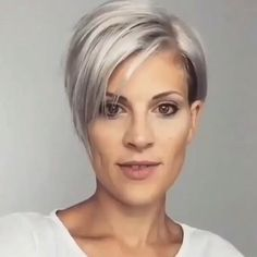Pixie Haircut For Thick Hair, Longer Pixie Haircut, Funky Short Hair, Short Hair Undercut, Short Grey Hair, Short Hair With Layers, Cute Hairstyles For Short Hair, Curly Hair Styles, Short Hair Cuts For Women Over 50