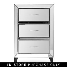 lola 3 drawer pedestal mirrored R2599