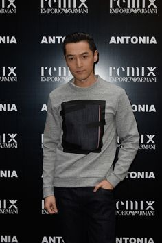 Hu Ge attending the launch event at Excelsior Milano. ARMANI · EMPORIO  ARMANI REMIX ac1d7ab2d3