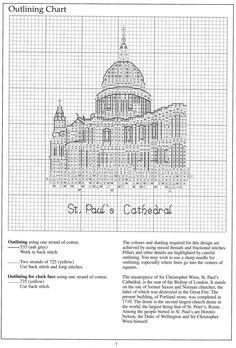 London Monuments7 Celtic Cross Stitch, Cross Stitch House, Ribbon Embroidery, Cross Stitch Embroidery, Cross Stitch Patterns, Monuments, Craft Museum, Pattern Books, Cross Stitching