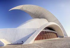 Spain Tenerife Concert Hall  #SantiagoCalatravaArchitecture Pinned by www.modlar.com
