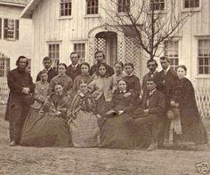 Outdoors group photo  civil war era fashion