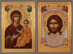 Icon of Panagia Byzantine Icons, Byzantine Art, Religious Icons, Religious Art, Wedding Icon, Mama Mary, Blessed Mother Mary, Orthodox Icons, St Joseph