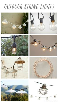 Outdoor String Lights Round Up - The Inspired Room blog