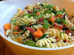 Garden Market Pasta Salad with Smoked Trout #DreamfieldsPinterestContest #HealthyPasta #LittleBlackBox