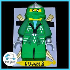 lloyd from lego ninjago cake