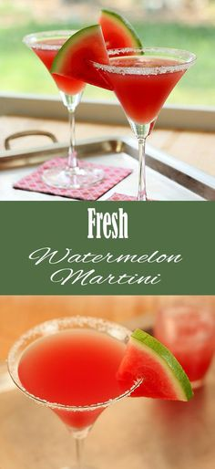 Make the Fresh Watermelon Martini for a delicious twist on girls night! Try with… Make the Fresh Watermelon Martini for a delicious twist on girls night! Try with Van Gogh Melon Vodka for that extra melon kick! Watermelon Cocktail, Cocktail Drinks, Cocktail Recipes, Vodka Cocktails, Watermelon Mixed Drinks, Watermelon Martini Recipes, Vodka Martini, Refreshing Cocktails, Classic Cocktails