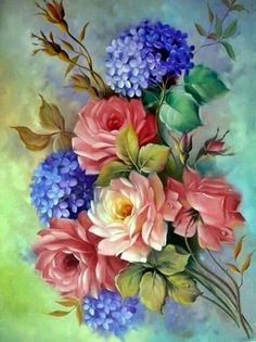 (notitle) – Nevin genç – Join the world of pin Art Floral, Floral Prints, Fabric Painting, Painting & Drawing, Illustration Blume, Decoupage Vintage, Rose Art, China Painting, Flower Wallpaper