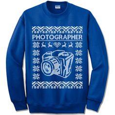 Photographer Ugly Christmas Sweater.