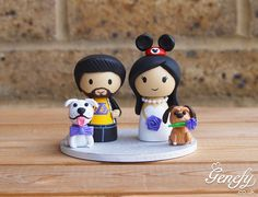 Cute wedding cake topper with pets https://www.facebook.com/genefyplayground