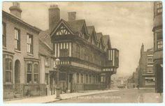 A view of Tudor House, Southampton c. 1914 after its restoration by W F G Spranger between 1898 and 1912, assisted by architect E Cooper Poole. The Tudor building was recreated as near to its original state as  possible.