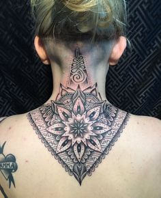 mandala back neck tattoo                                                       …