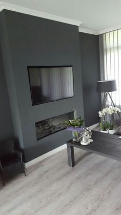 Living Room Renovation, Home Room Design, Home Living Room, Home Fireplace, House Interior, Living Room Decor Cozy, Cosy Living Room, Bachelor Pad Living Room, Living Room Tv