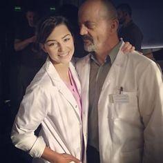 #agnieszkawiędłocha i #jacekkoman pozdrawiają z planu już piątej serii #lekarze #lekarzetvn #tvn Tv Series, Instagram