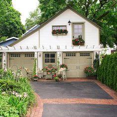 Upgrade Garage Details, cottage garden and backyard. Just because...