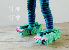 kid-play-do: Monster Feet DIY #kids #diy