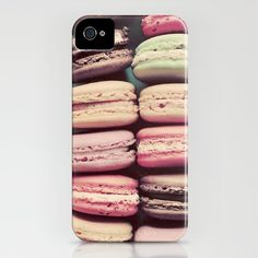 Macaron iPhone case. For those who even like to have their food on inedible everyday items.