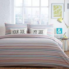 Ben de Lisi Home 'Boston' white striped bedding set- | Debenhams
