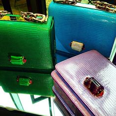 Bulgari spring 2015 bags: Bulgari is celebrating their 130th anniversary in style. The brand has pulled out all the stops on their intensely covetable collection of arm candy—new handbags with cabochon closures inspired by their Diva collection of jewelry.