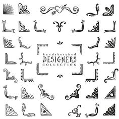 Decorativo Vintage corners collection. - ilustración de arte vectorial