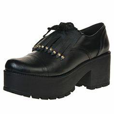 Me encanta! Miralo! Zapato Negro Lali Ramirez  con Flecos y Plataforma  de Lali Ramirez by RH Positivo en Dafiti