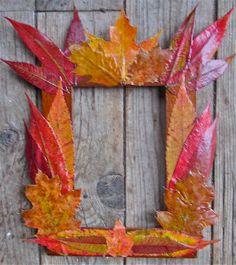 autumn crafts | Fanciful Fall Foliage Frame | AllFreeKidsCrafts.com