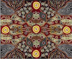 Wild Coconut Black Australian Aboriginal fabric at HeartSong Quilts.