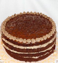 Fotorecept: Nahá čokoládová torta