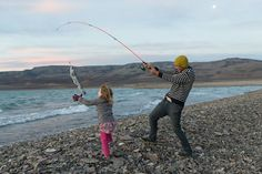 #fishing #travel #southamerica #family #father #daughter #fish #beach #coast #seaside