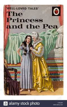 """Vintage Ladybird book """"The Princess and the Pea"""", from the 'Well-Loved Tales' series Stock Photo 1970s Childhood, My Childhood Memories, Childhood Toys, Sweet Memories, Hans Christian, Easy Reading Books, Bedtime Reading, Princess And The Pea, Real Princess"""