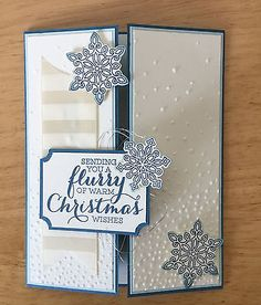 Christmas card kit - Flurry of warm Christmas - md w/ Stampin Up prod