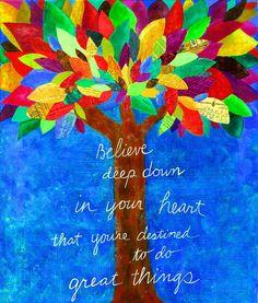 Believe - cool bulletin board idea