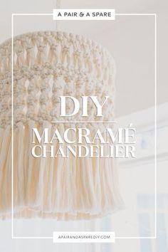 DIY Macramé Lampshad