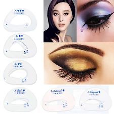 6pcs Tool Makeup Template Models Shaper Eyeshadow Stencil SET Perfect | eBay