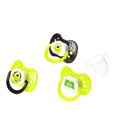 Another great find on #zulily! Green Monsters Inc. Pacifier - Set of Three by Disney Baby #zulilyfinds