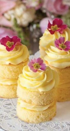 Lemon Buttercream Cakes                                                                                                                                                     More