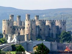 Built n 1283-87 by Master James of St George, Conwy Castle in Wales remains one of the most outstanding achievements of medieval military architecture