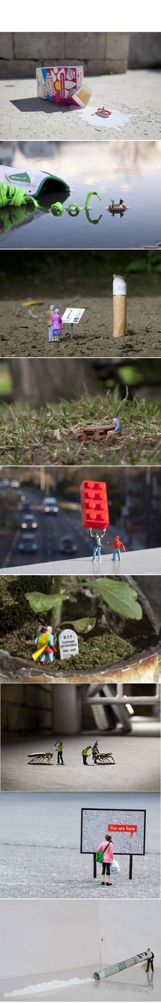 """Little People Project"" Gallery by Slinkachu"