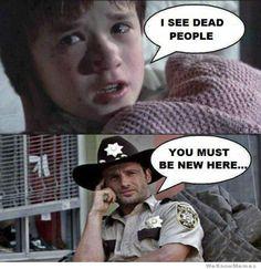 Rick sees dead people