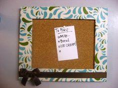 diy framed cork board!! EASY!