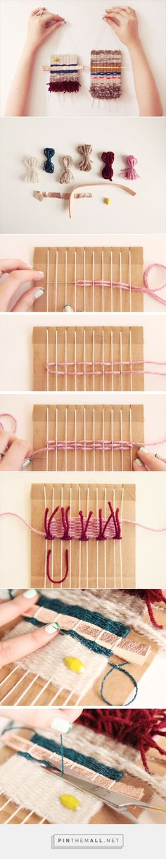How-Tuesday: Learn to Weave | The Etsy Blog --- mini loom weaving ornaments or…